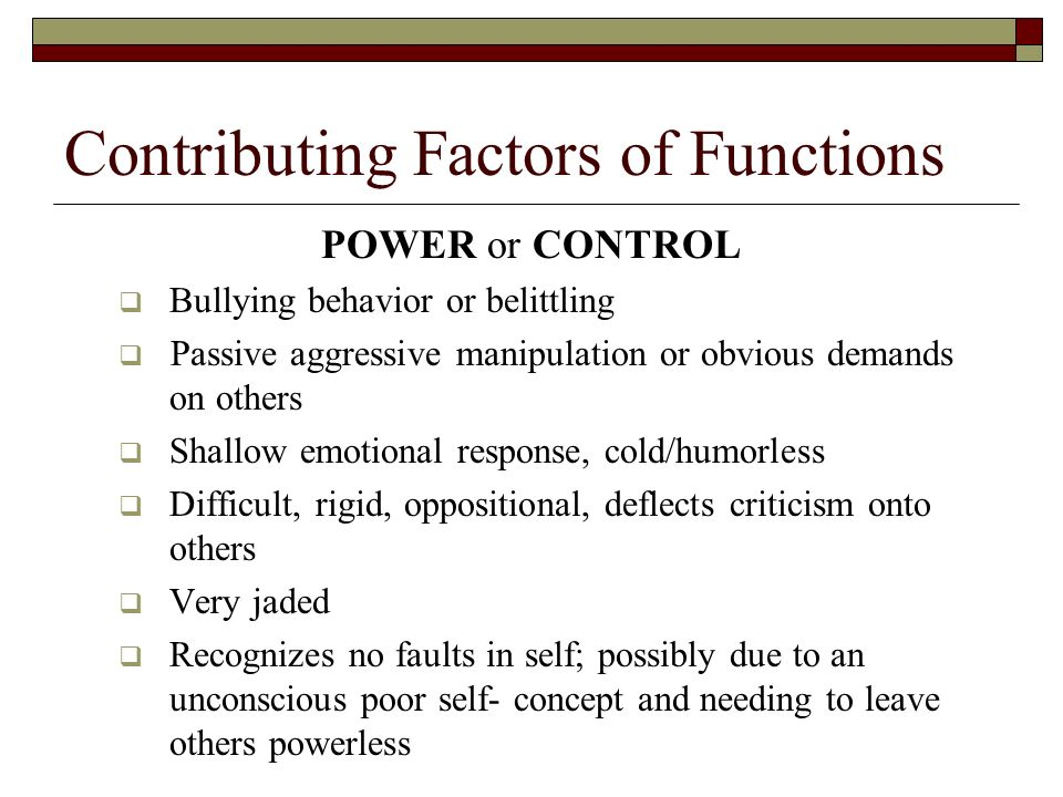 passive aggressive manipulative behavior