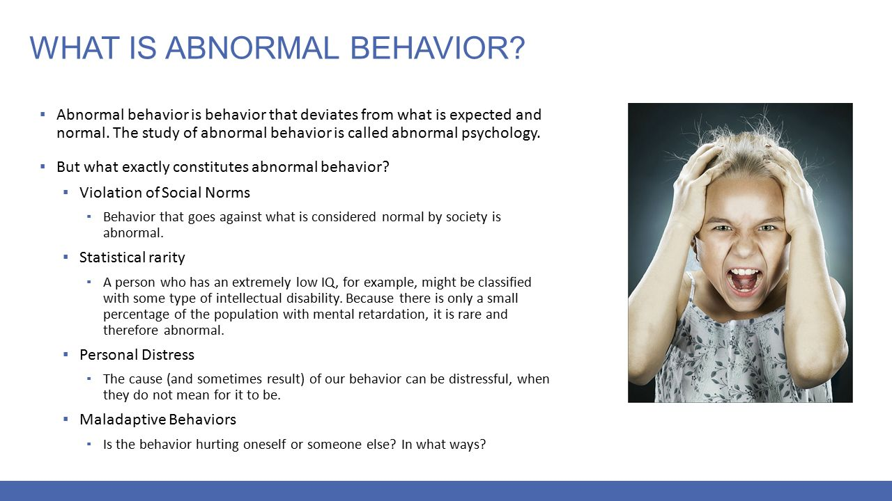 the study of abnormal behavior is called
