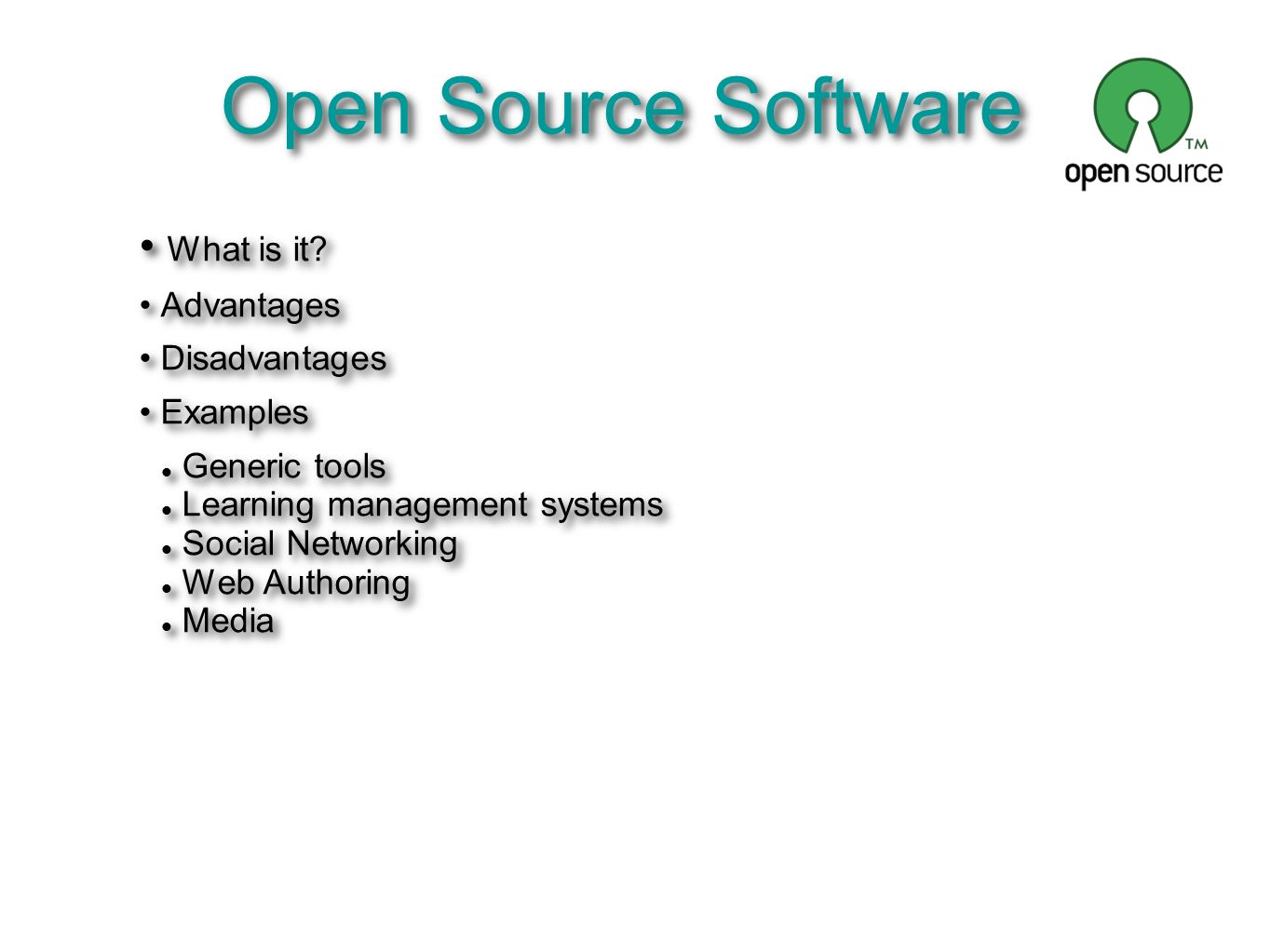 An example of bsc: effects of adopting open source software.