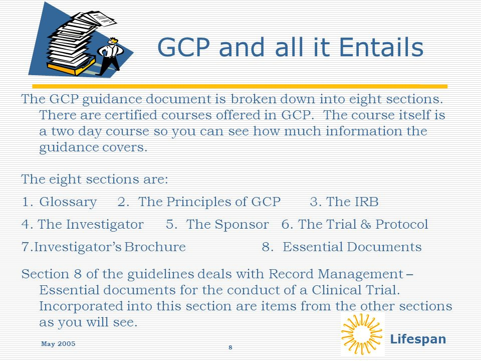 Lifespan GOOD CLINICAL PRACTICE Record Management GCP May ppt download