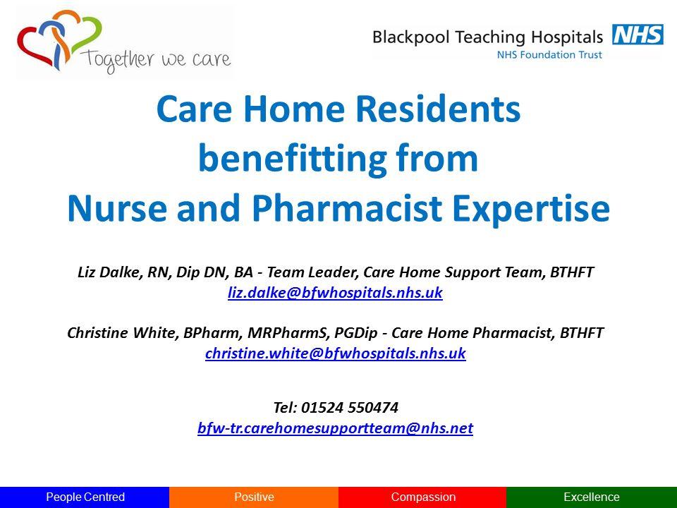 Liz Dalke, RN, Dip DN, BA - Team Leader, Care Home Support