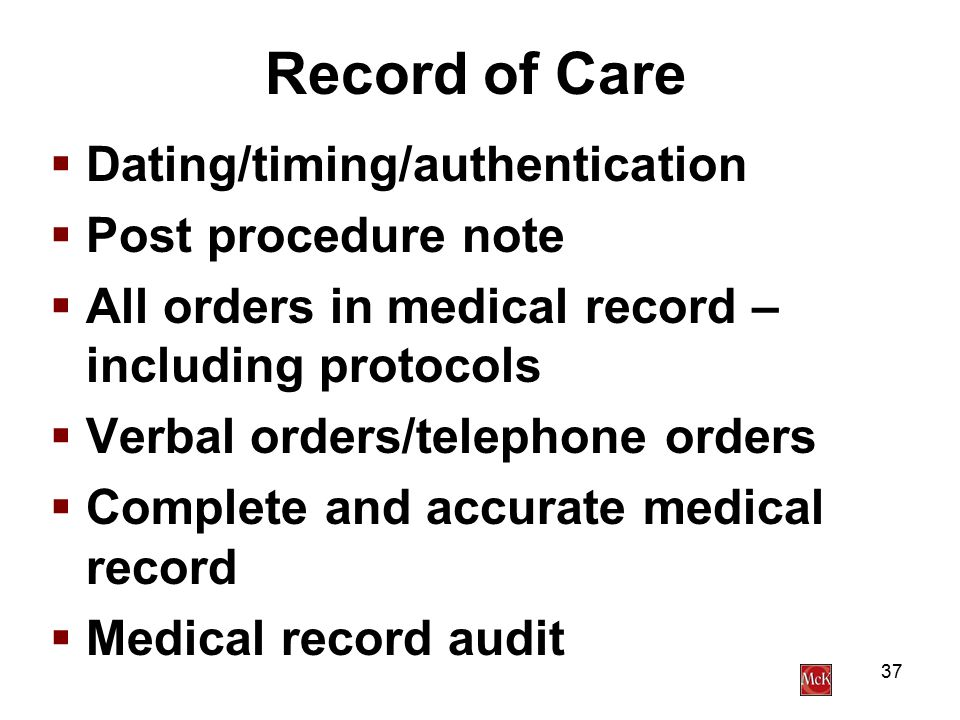 Dating and timing medical records