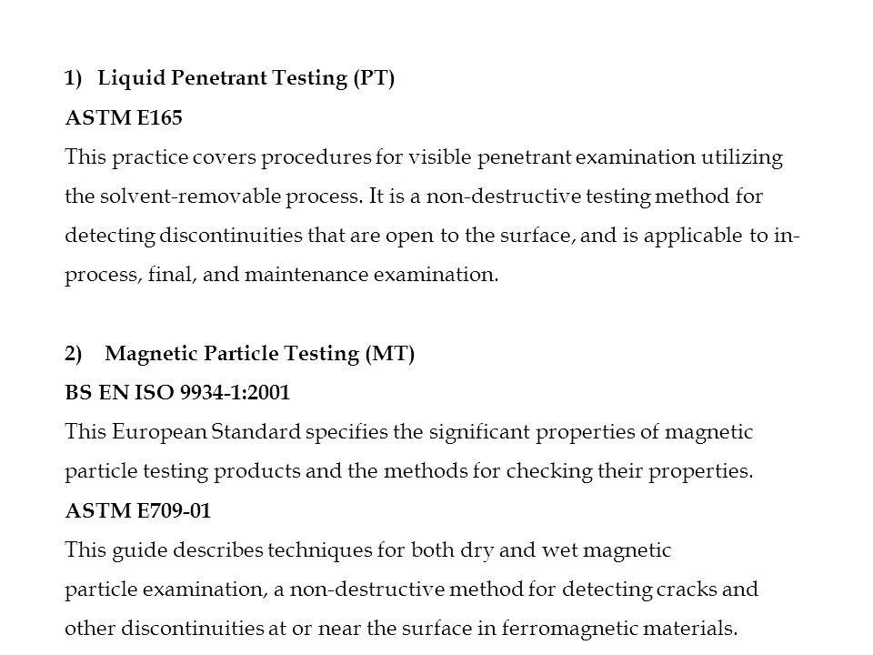 NON DESTRUCTIVE TESTING (MEMB453) Mini Project – NDT Visit