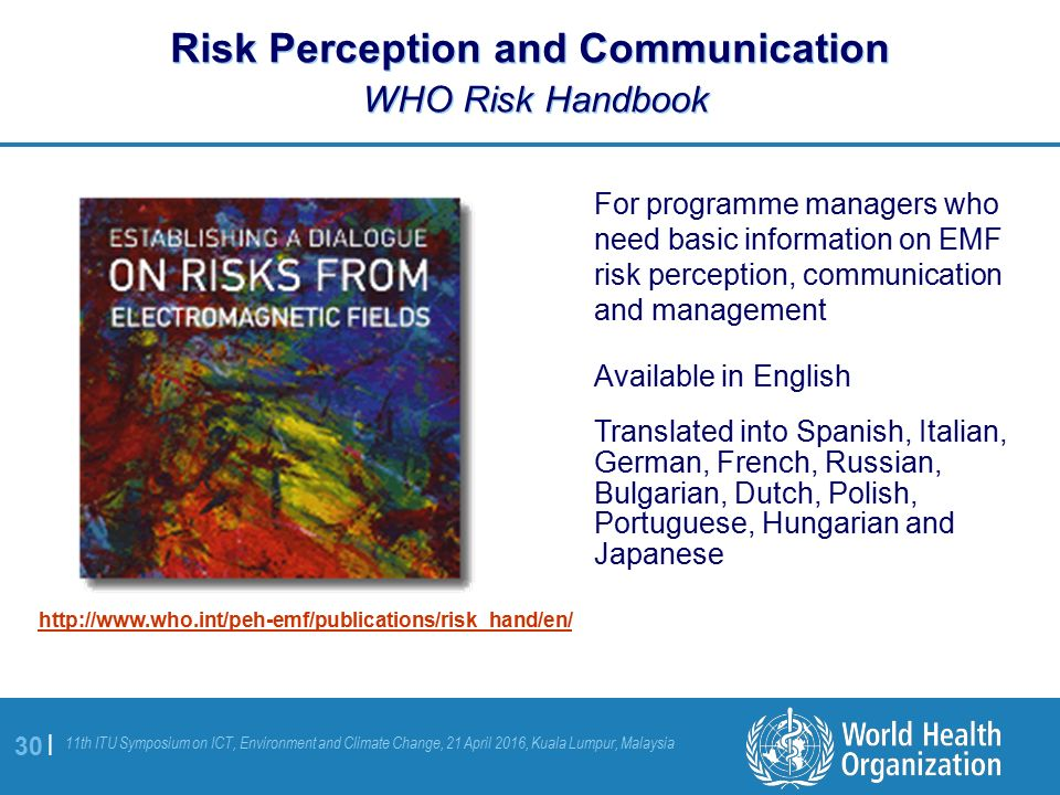 establishing a dialogue on risks from electromagnetic fields world health organization