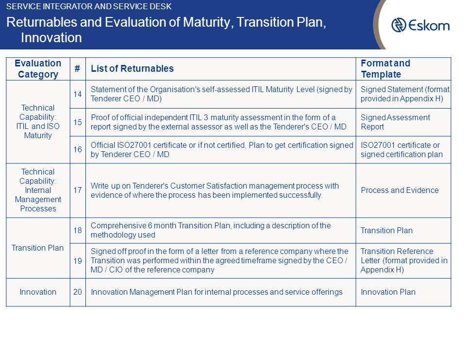 Transition and Transformation Management Planning, Coordination and ...