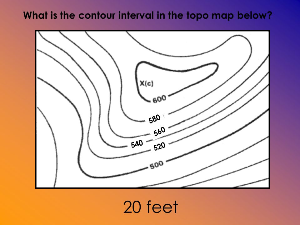 What Is The Contour Interval Of The Map TOPOGRAPHIC MAPS Topographic maps show changes in elevation of  What Is The Contour Interval Of The Map