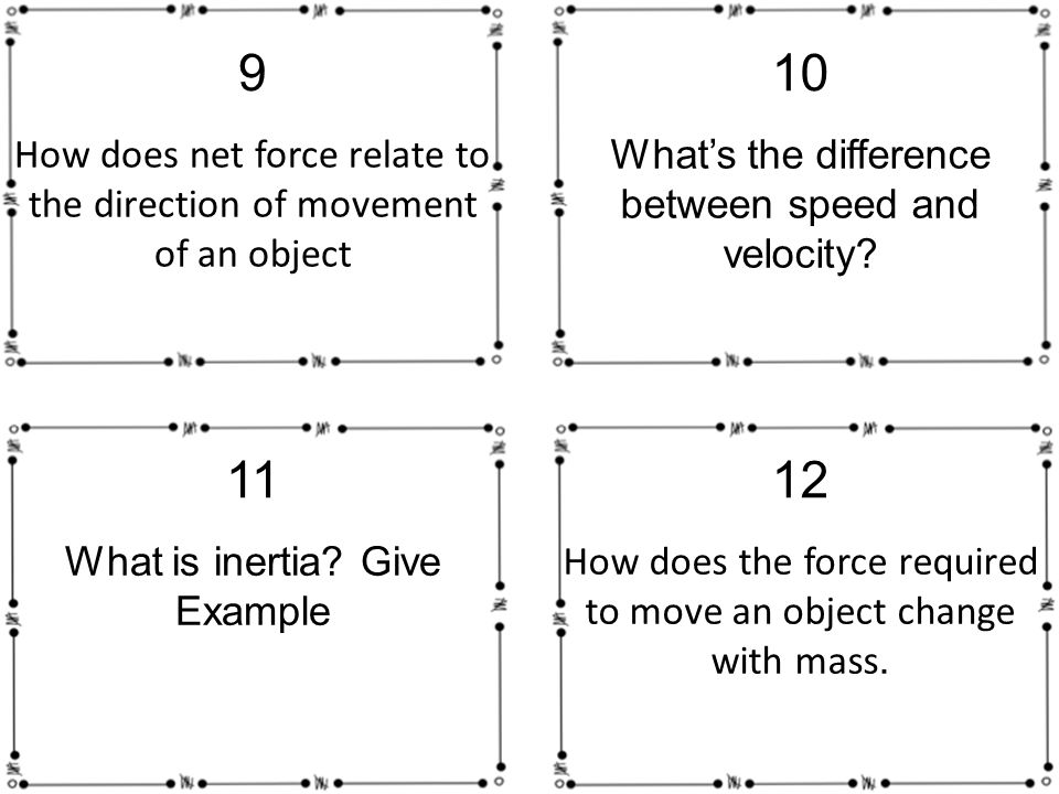 how does net force relate to the direction of movement of an object 9 whats the