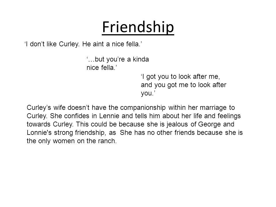 george and lennie friendship