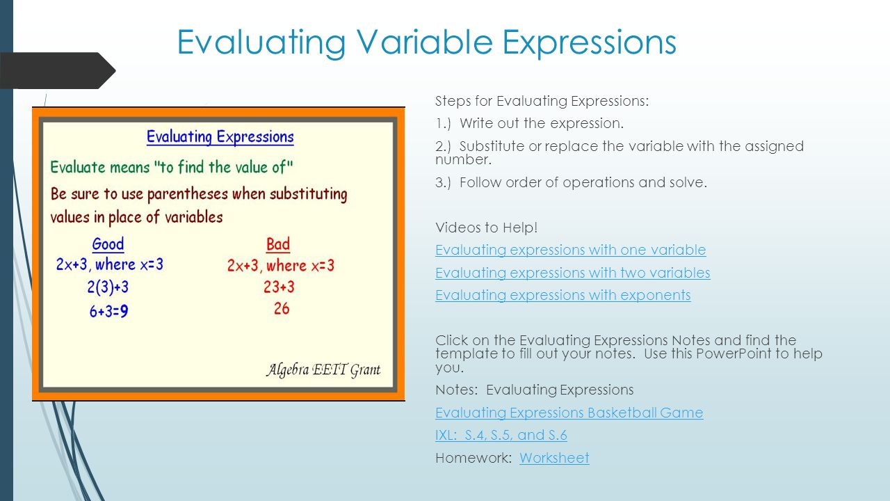 Unit 2 Pre Algebra Expressions Equations And Inequalities Ppt
