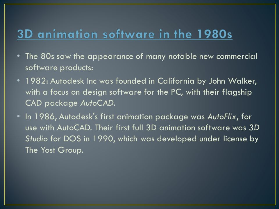 In less than 40 years, CGI & 3D graphics have moved from a mere