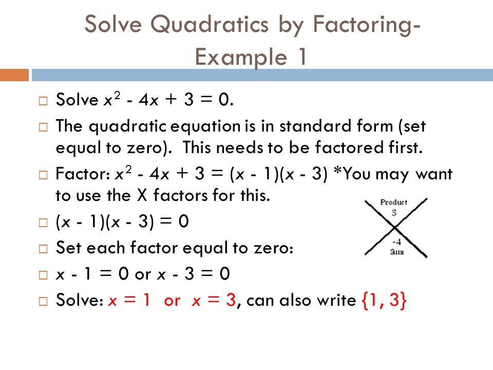 Algebra 2 Module 4 Lesson 1 Solving Quadratic Equations By
