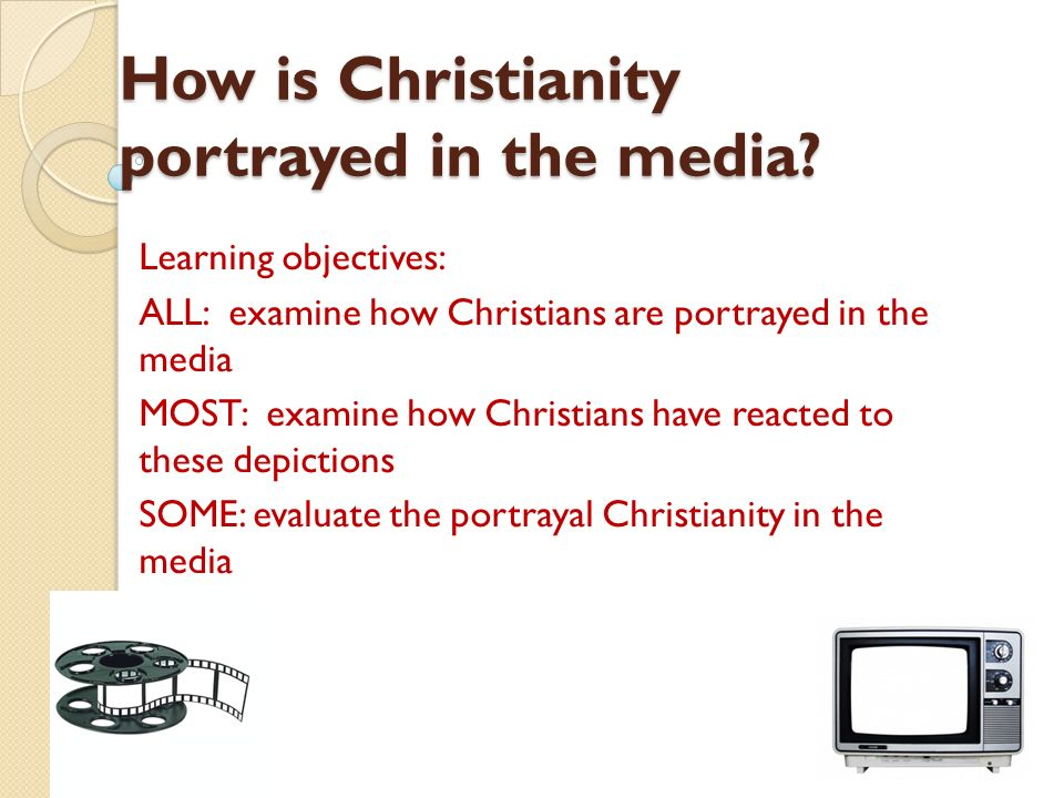 Media portrays homosexuality and christianity
