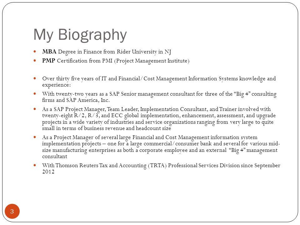 Richard C Bernheim Pmp Mba Senior Implementation Consultant