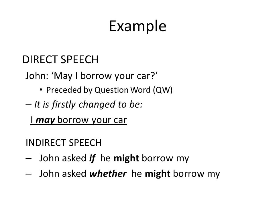 DIRECT AND INDIRECT SPEECH  DIRECT SPEECH Saying exactly