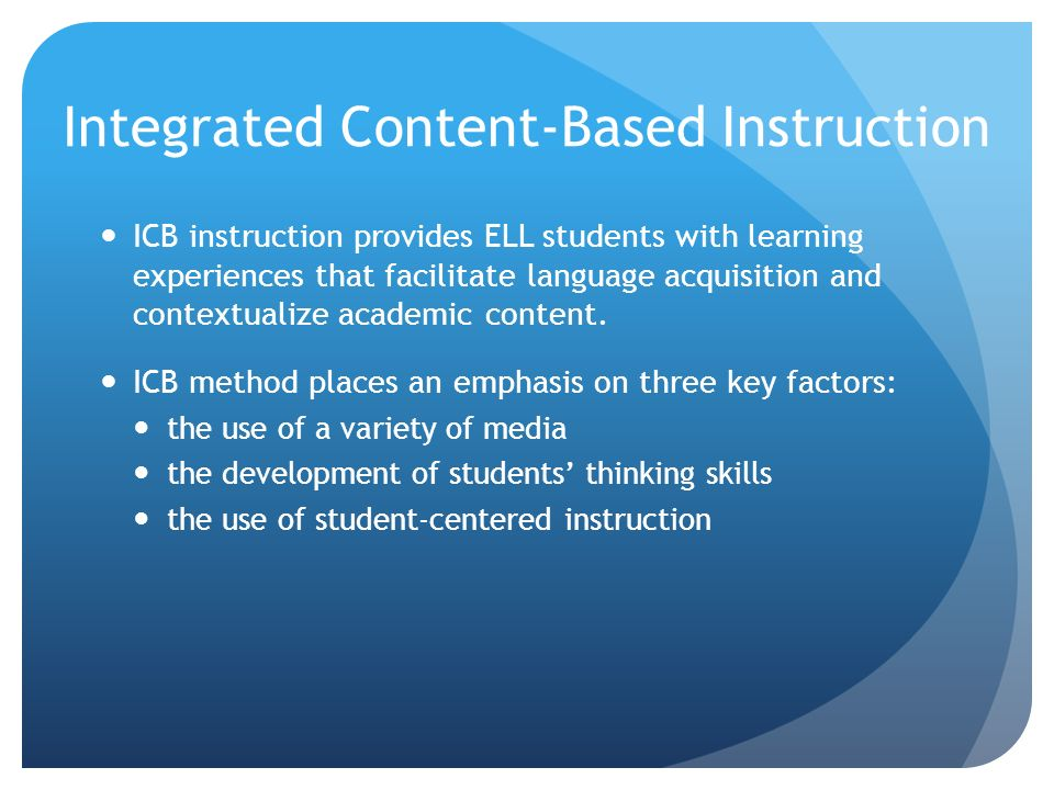 Collaboration Integrated Content Based Instruction Ppt Download