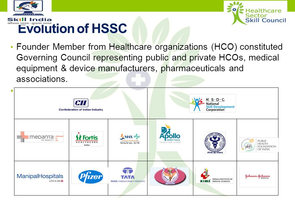 HEALTHCARE SECTOR SKILL COUNCIL (HSSC)  Healthcare Sector