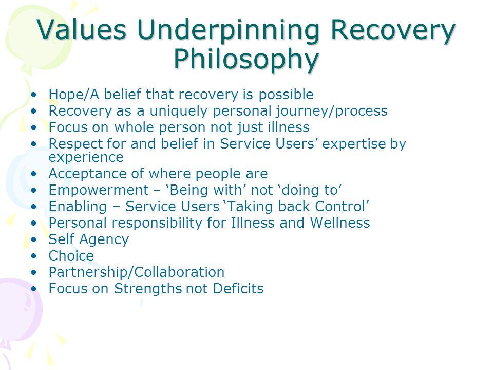 Personal philosophy of mental health nursing