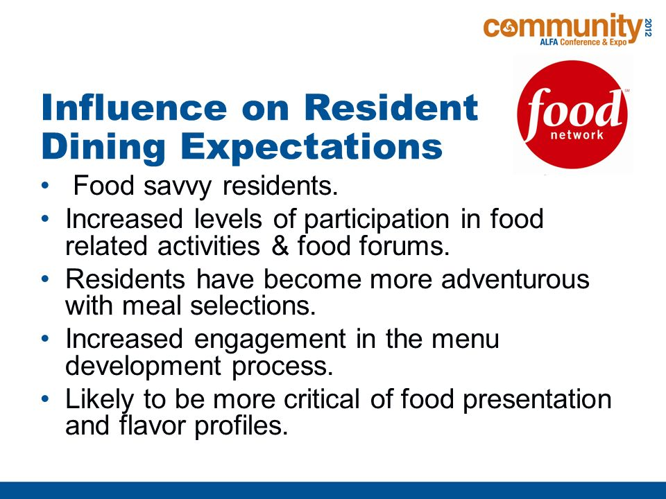 1  The Rise of the Food Network and its Effect on Resident's