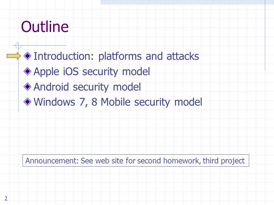 Mobile Platform Security Models *Original slides by Prof