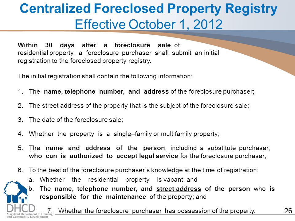 1 Strategies to Deal with Vacant and Foreclosed Properties October 5