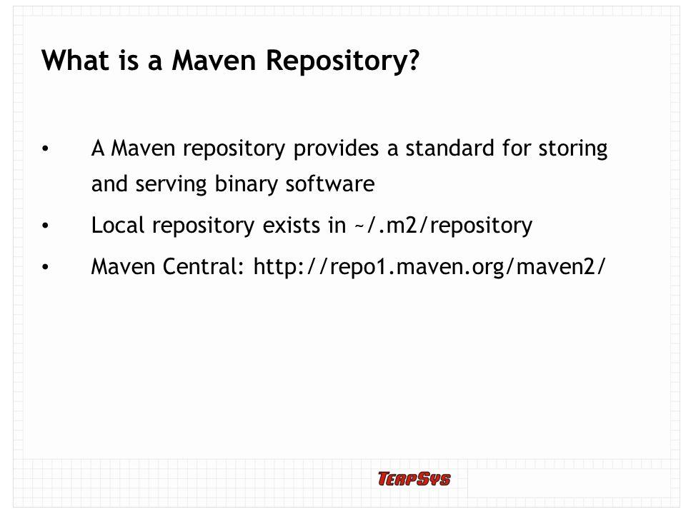 8/29/10 Maven Repository Management with Nexus Jim McMahon  - ppt