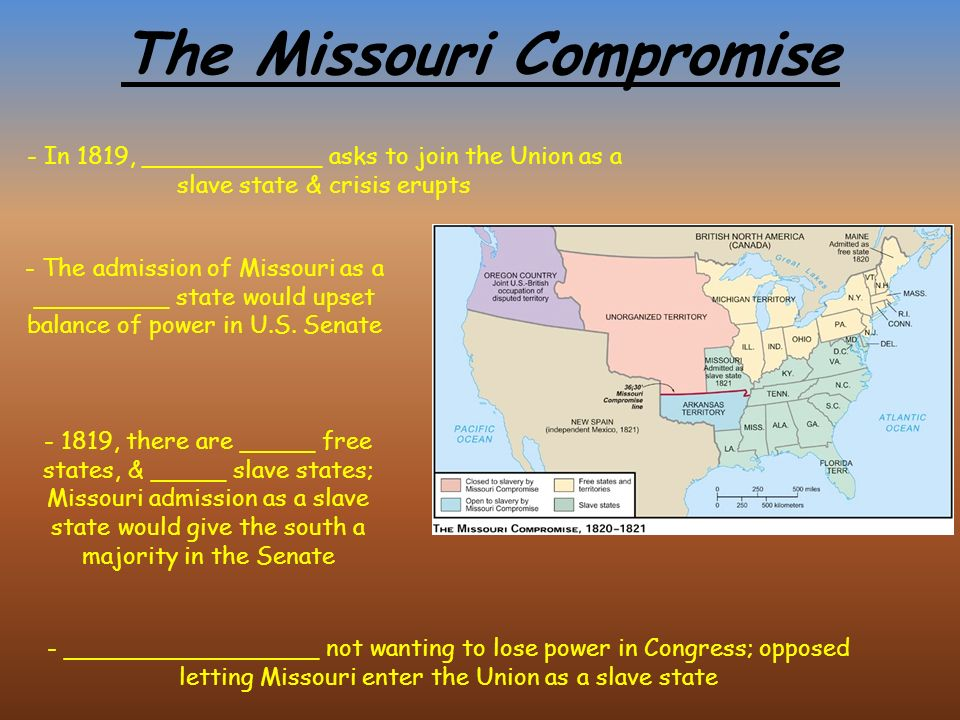 The Civil War. The Slavery Issue out West - Many feared the ______ ...