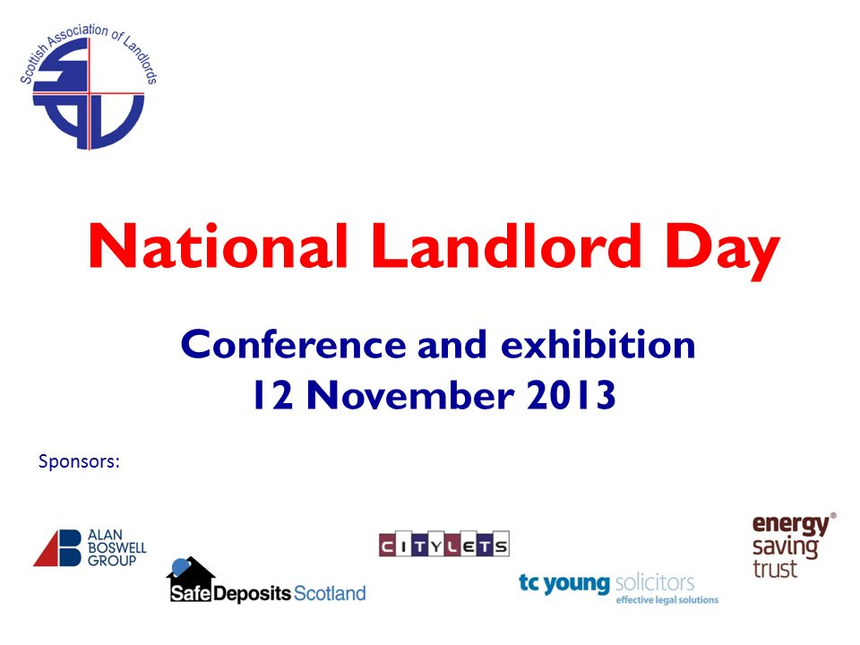 Welcome to National Landlord Day Conference and exhibition 12