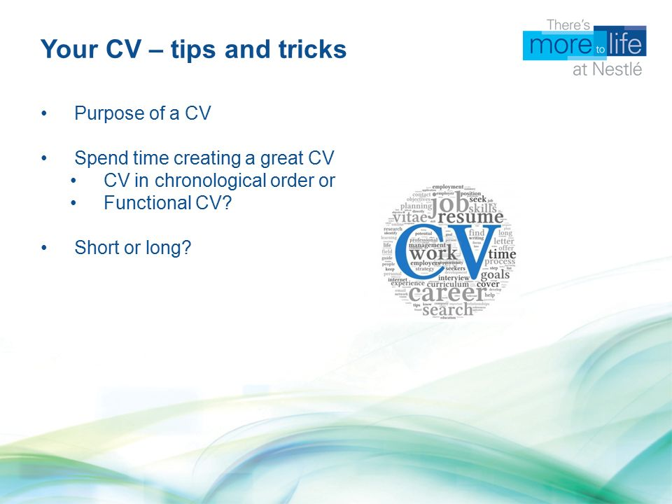Nestle How To Successfully Write Your Cv And Cover Letter Ppt
