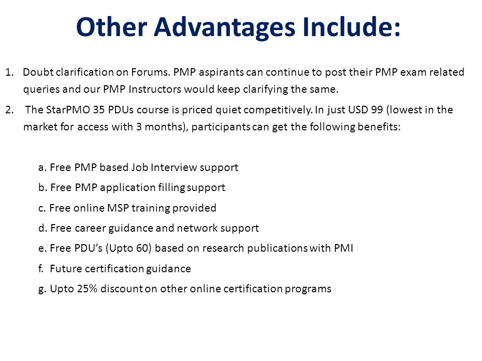 Starpmo Provides Class Room And Online Pmp Certification Training In