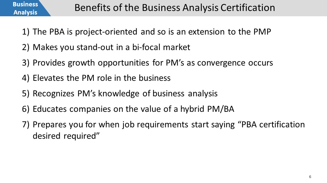 Business Analysis 1 Why Pmi Is Betting On Business Analysis To Take