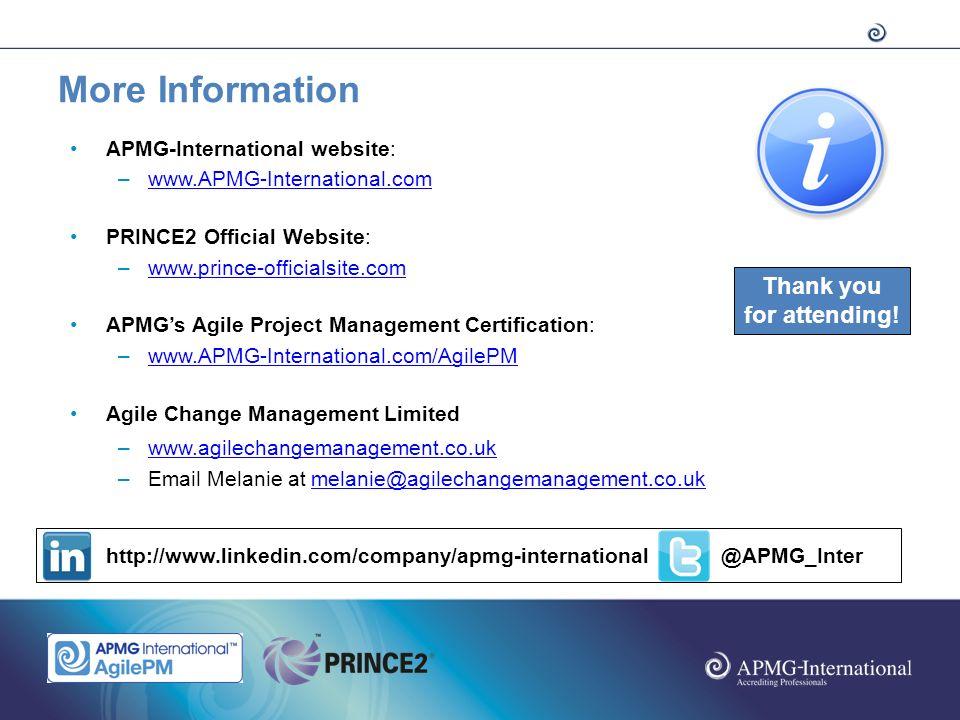 Apmg International Webinar Integrating Agile Into Prince2 Thursday