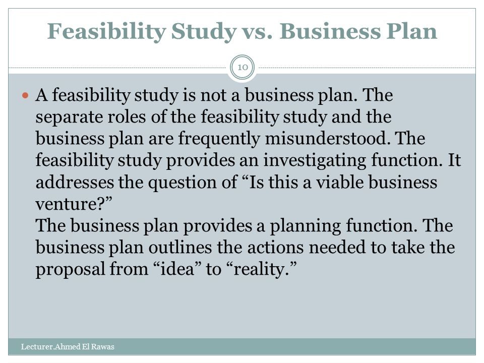 feasibility study ppt