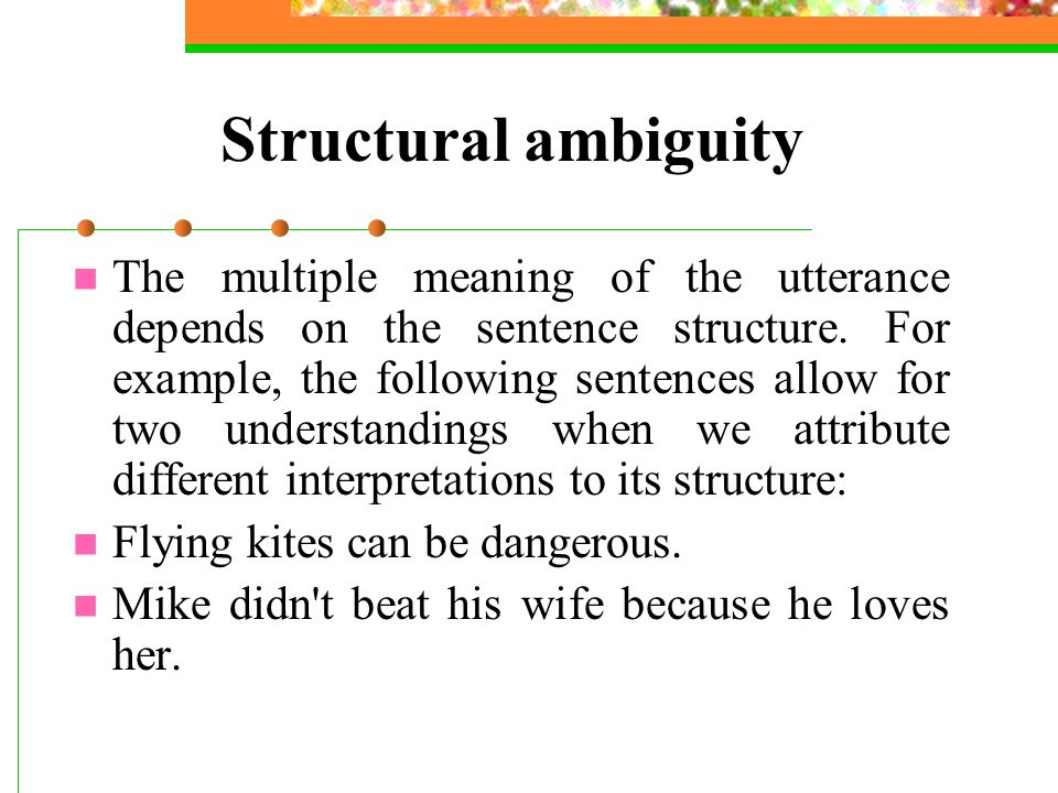 structural ambiguity linguistics
