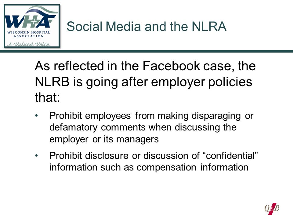 Social Media and the Workplace: Hidden Dangers for Employers David B ...