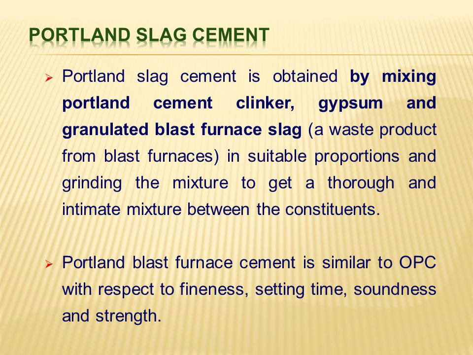 Unit I Constituent Materials Cement Different Types Chemical