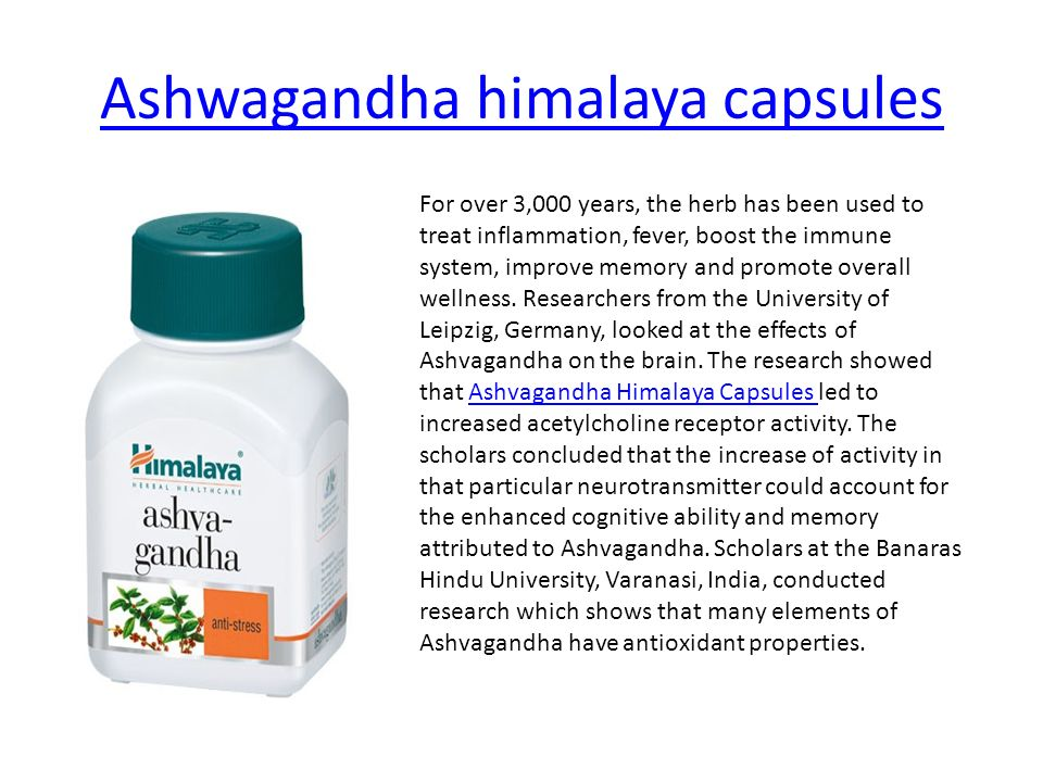 Ashwagandha extract capsules Ashwagandha also known as