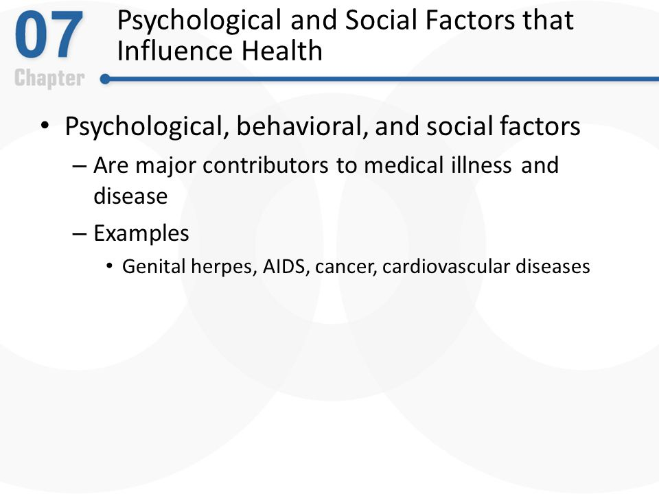 Chapter 7 Physical Disorders And Health Psychology Ppt Download
