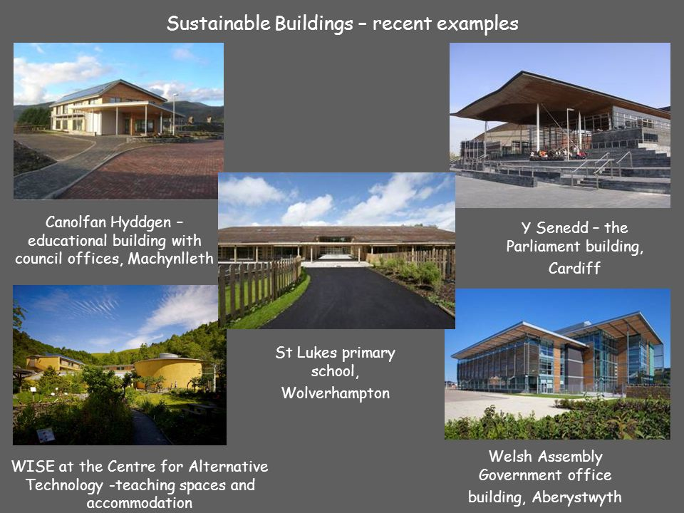 sustainable buildings five examples presentation produced by cat