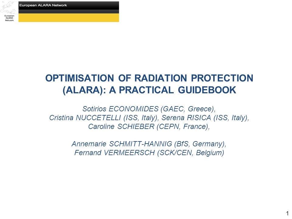 optimisation of radiation protection alara a practical guidebook rh slideplayer com Occupational Safety Manual PDF Workplace Safety