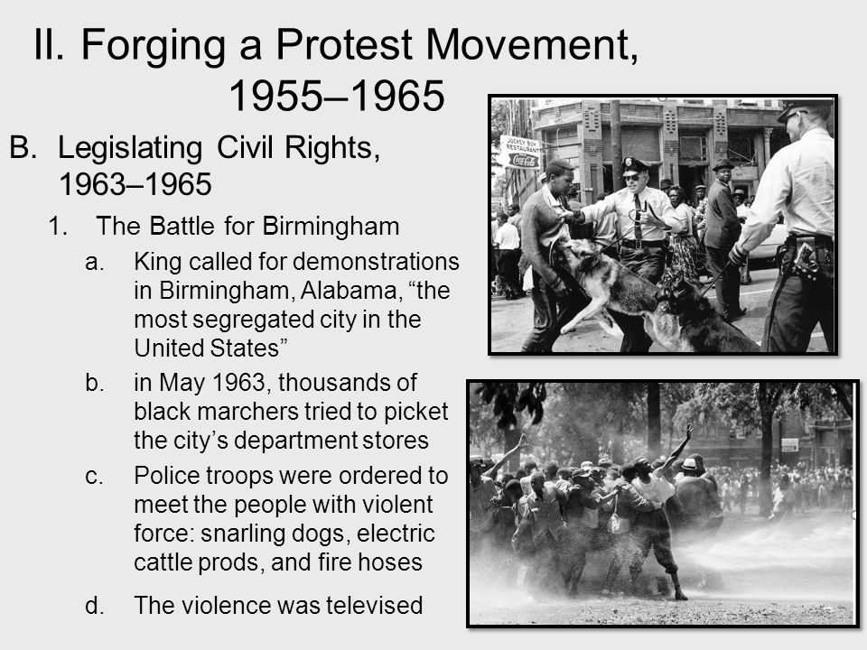 civil rights movement 1955 to 1965
