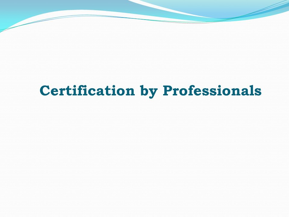 Certification by Professionals. Chartered Accountant/ Statutory ...