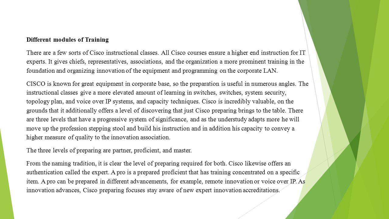 Cisco Training In Hyderabd Tremendous Advantages Of Cisco