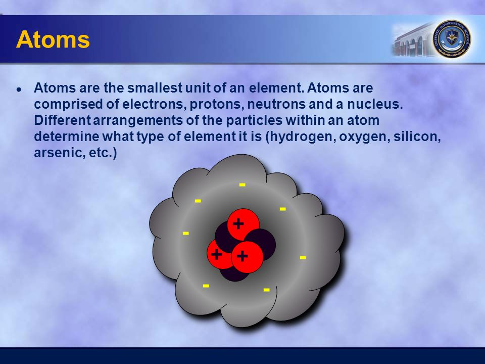 Atoms ● Atoms are the smallest unit of an element.