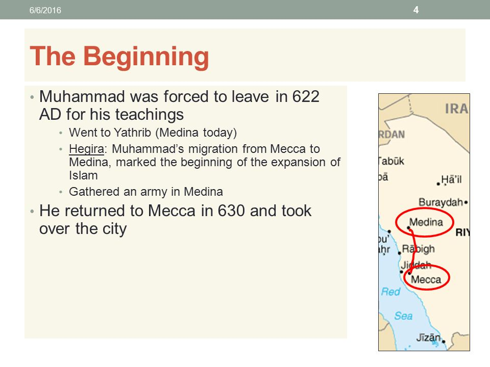 ISLAM Teachings and History of the Religion  The Beginning