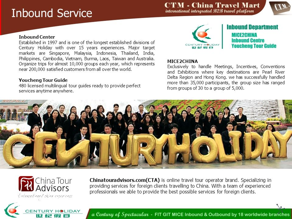 by Century Holiday International Travel Group CTM Website