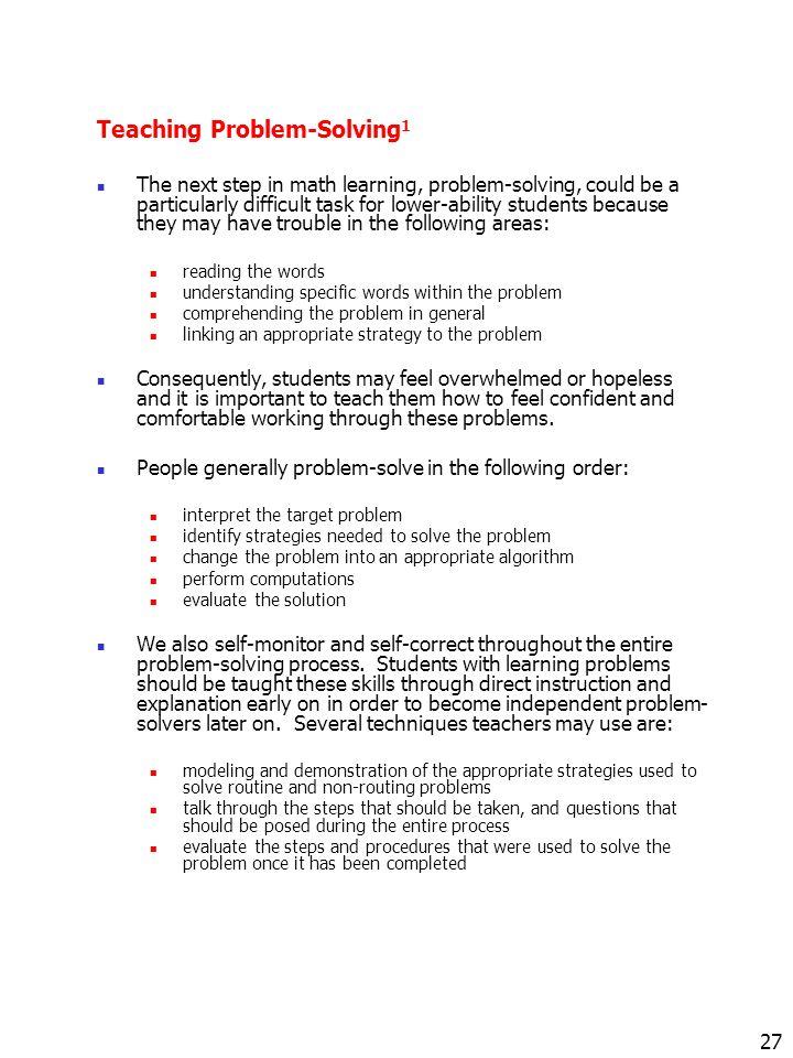 Mathematics Instruction For Children With Fetal Alcohol Spectrum