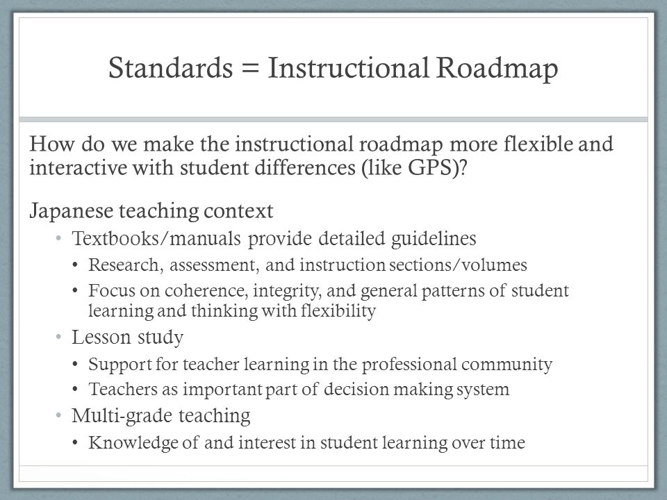 Navigating Standards Teacher And Student Learning Through Different