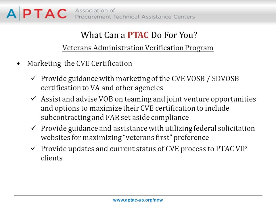 What Can A Ptac Do For You Webinar Presentation For The National