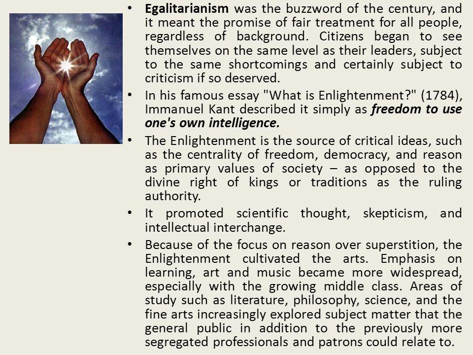 goals of the enlightenment