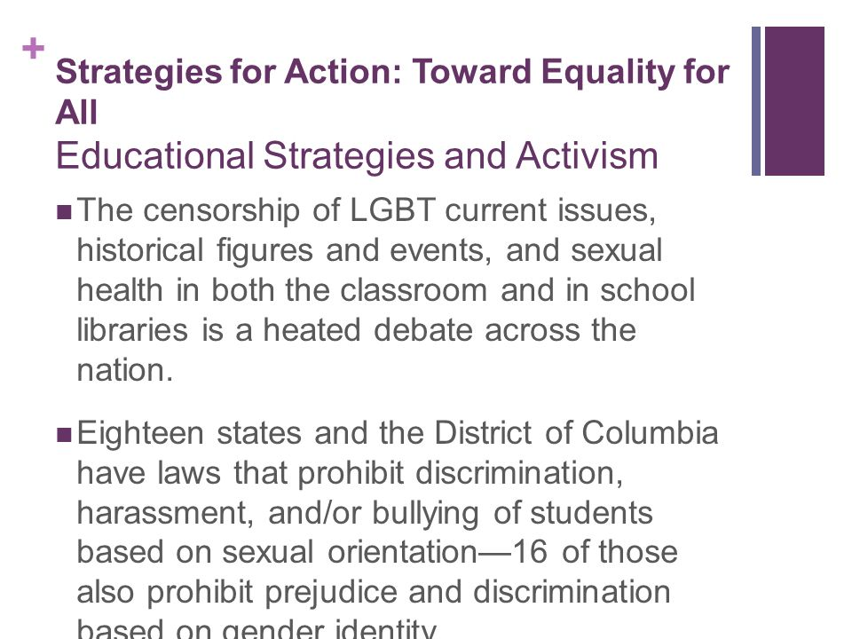 Sexual orientation issues in the classroom